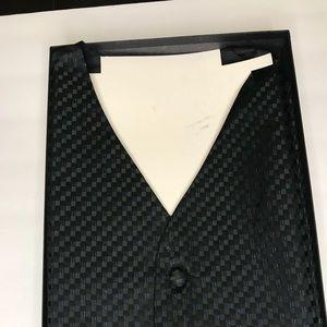 Louis Roth Tuxedo Vest Black and Blue